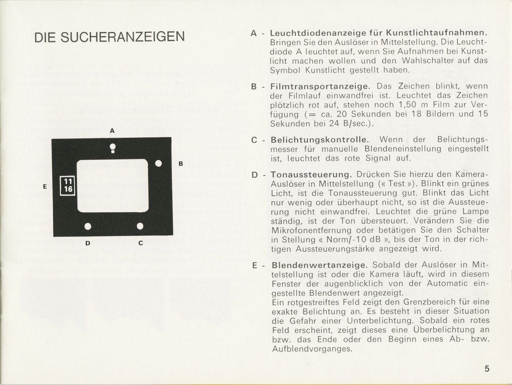 User Manual for Beaulieu 1008 XL (German) - Super8wiki